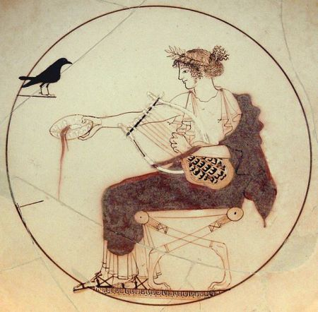 Apollo with Black Bird, Delphi. Archaeological Museum Delphi. Photo: fingalo, CC2.