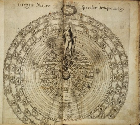 """Robert Fludd, The Great Chain of Being from God to Nature and from Nature to Man, from Utriusque cosmi maioris scilicet et minoris metaphysica, physica atque technica historia 1617-1618. Wellcome Library, London. Copyrighted work available under Creative Commons."""""""